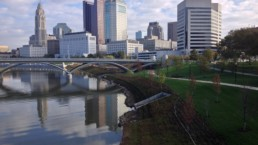 Aerial view of Columbus.
