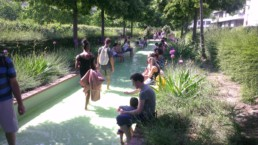 Parisian park made for climate protection.
