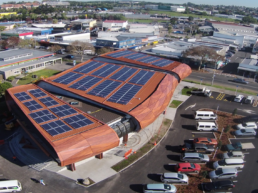 Aerial view of Low Carbon Auckland.