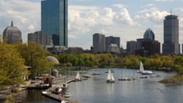 Aerial view of Boston.