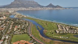 Aerial view of Cape Town, South Africa.