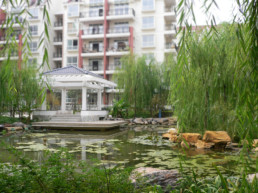 Baibuting, a densely built community in Wuhan.