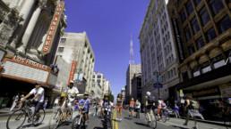 Street view of Los Angeles.