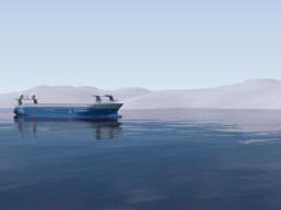 A Kongsberg and YARA zero-emission, autonomous vessel.