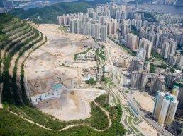 Aerial view of Hong Kong.