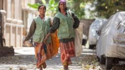 Women walking in Bengaluru.