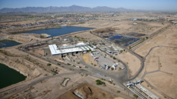 "Aerial view of Phoenix new waste treatment plant under the program ""The Reimagine Phoenix Initiative"", using resource recovery initiatives."