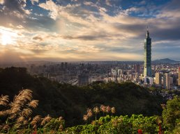 Aerial view of New Taipei City.