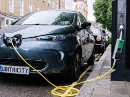 Citroen electric vehicle charging.