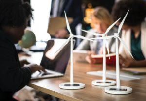 Mini wind turbines.