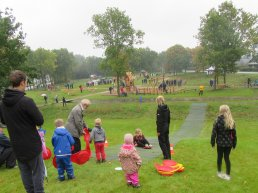 Children playing in the park in Ringsted Municipality
