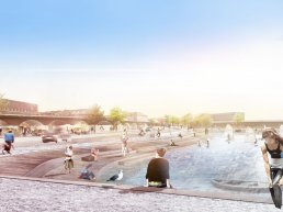 Struer has created a multifunctional climate project that combines flood protection and a new urban recreational space to reconnect city and harbor.