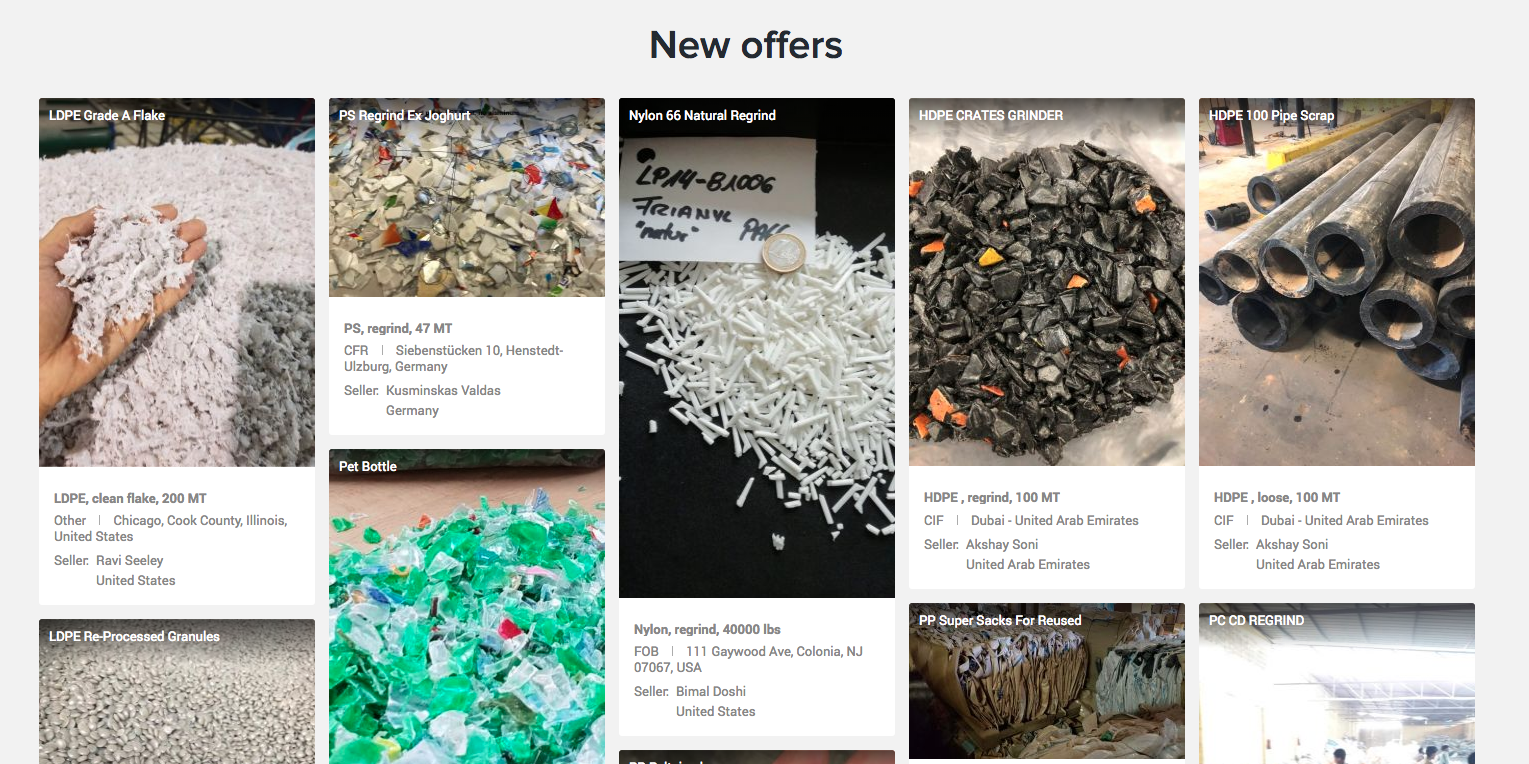 Online Marketplace for Recyclable Plastics | Global