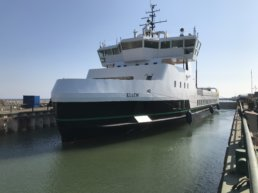 Europe's first 100% electric ferry, developed by Ærø Municipality.