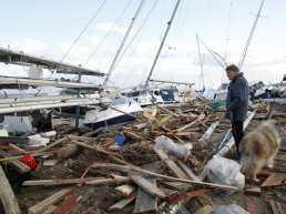 Debris from a extreme weather incident in Denmark.