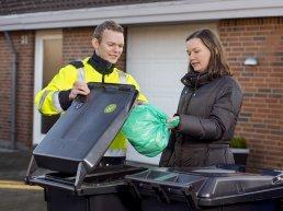 Residence in Vejle Municipality recycling.