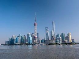 Aerial view of Shanghai.
