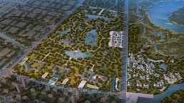 Green and blue spaces will be well integrated into new build- ing projects in Jiaozhou. Designed to prevent flooding.